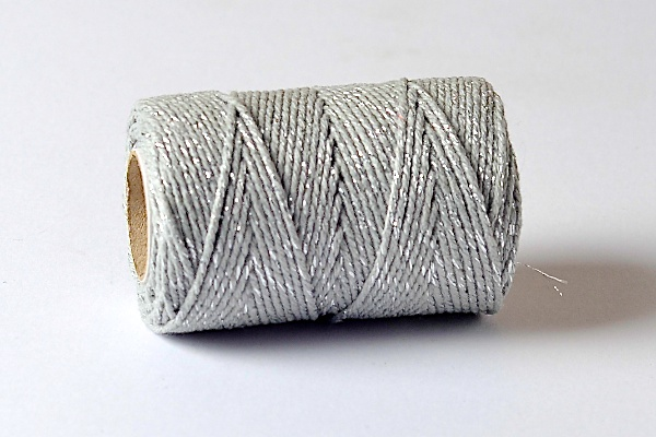 baker's twine sparkle range thegrey and silver sparkle  bakers twine