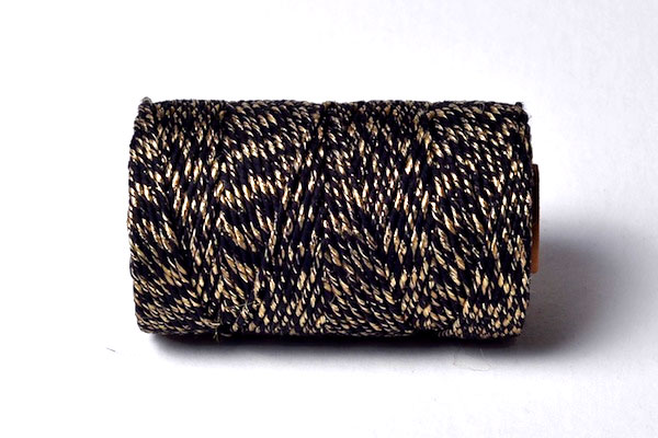 bakers twine in gold and white metallic colours