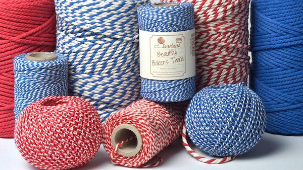 bakers twine in red and blue