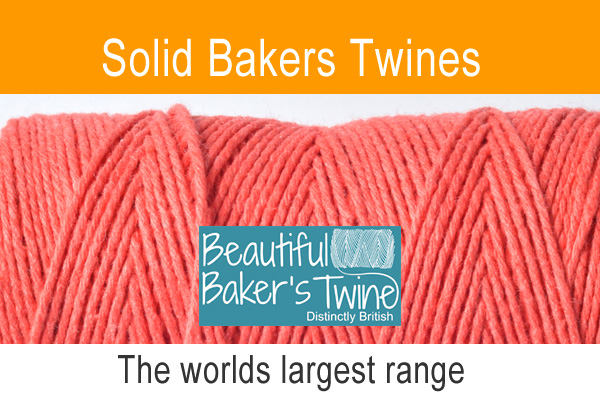 single colour cotton bakers twines twines