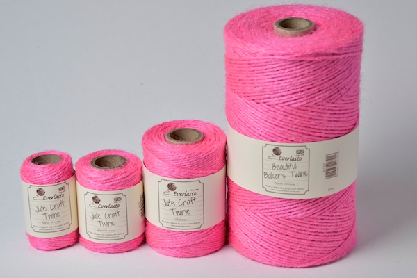 jute twine manufactured in rose pink