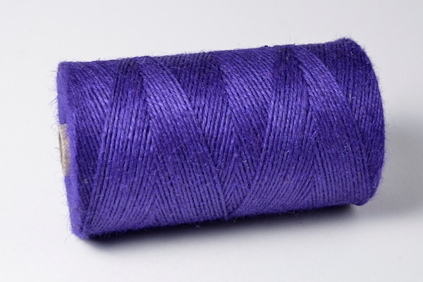 1kg spool of purple coloured jute crafting twines