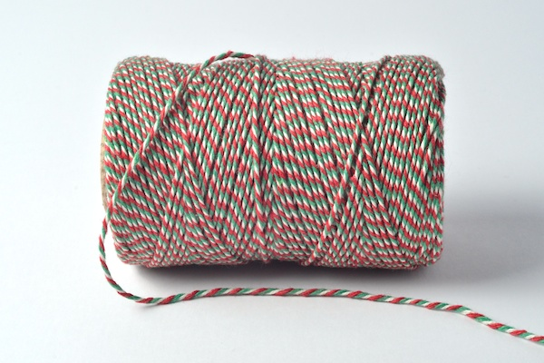 bakers twine tri coloured red green white welsh baker's twine