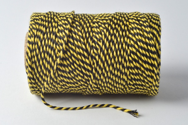 black and yellow baker's twine