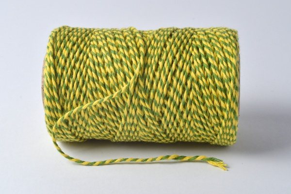 bakers twine yellow and lime green coloured