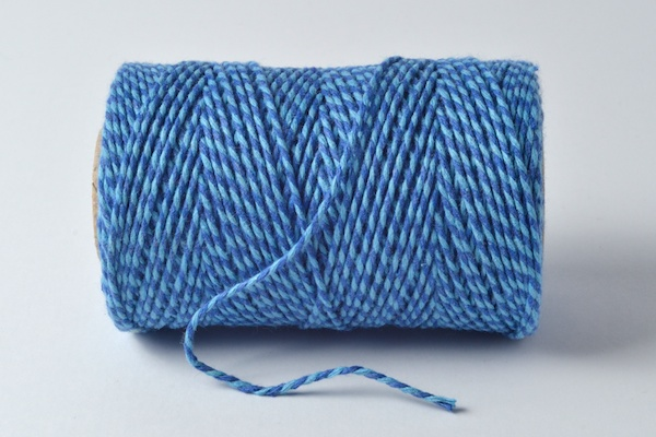 bakers twine sky blue and dark blue