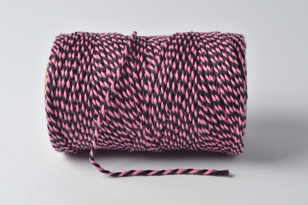 bakers twine pink and black