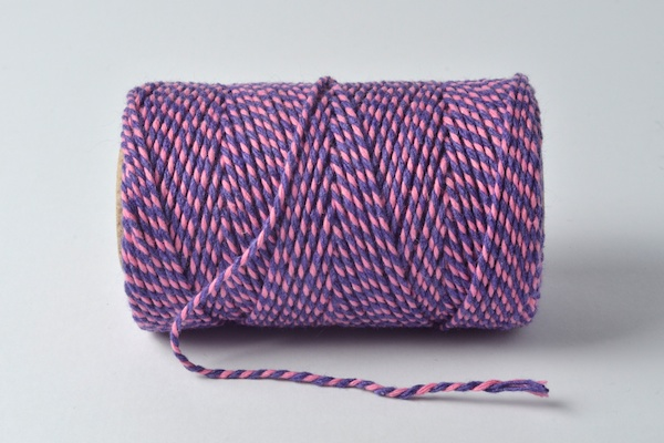 bakers twine in pink and violet beautiful bakers twines