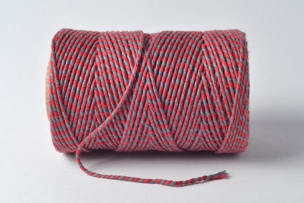 baker's twine red and slate grey
